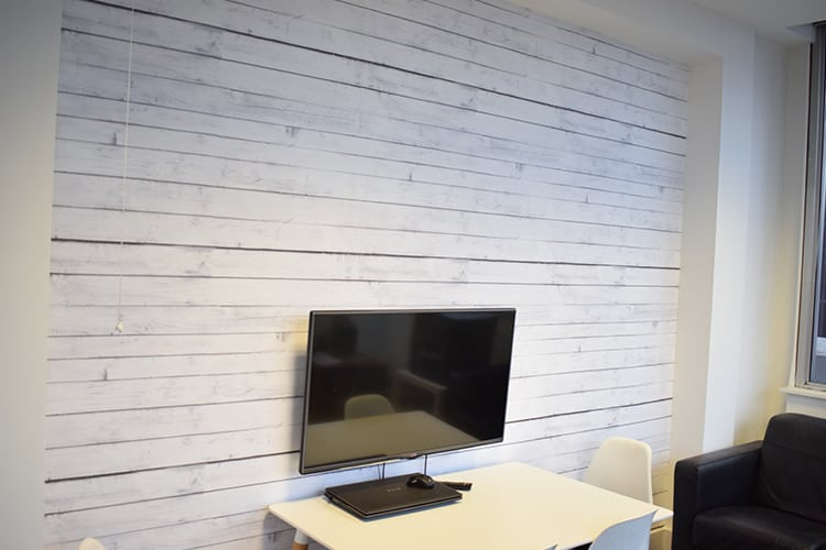 Custom Printed Wallpaper - Wood Effect