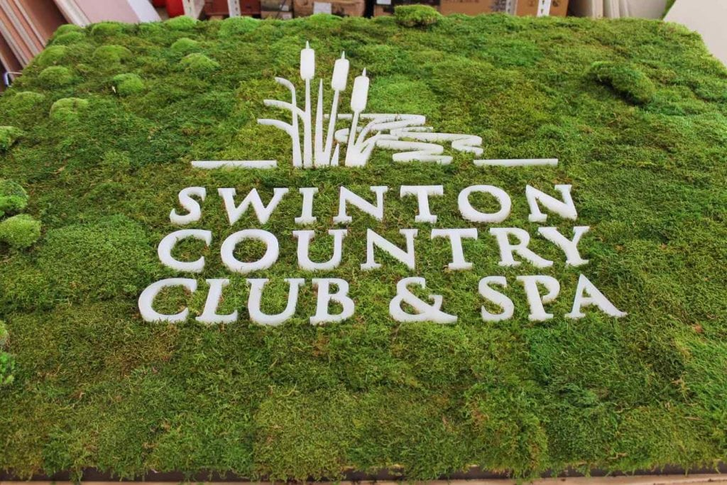 Custom Made Signage for Swinton Country Club & Spa