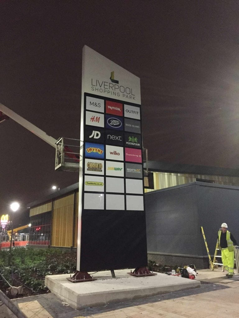 Custom Monolith Signage - Liverpool Shopping Park