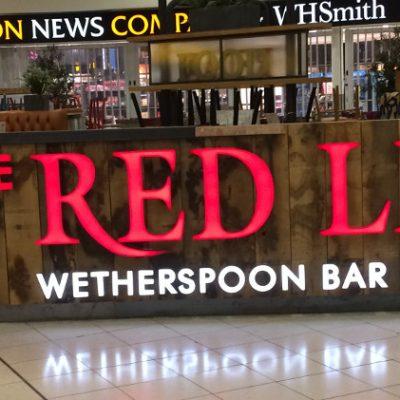JD Wetherspoon - Red Lion, Gatwick - Illuminated Sign