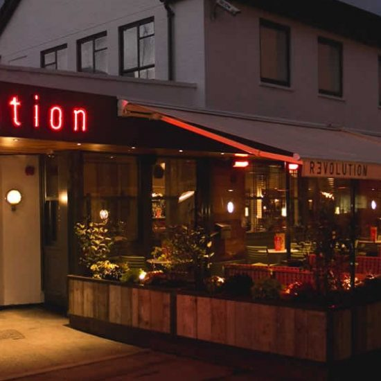 Revolution, Beaconsfield - Neon and Illuminated Signage & Branded Awnings