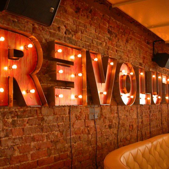 Revolution, Blackpool - Bespoke Internal Illuminated 3D Sign