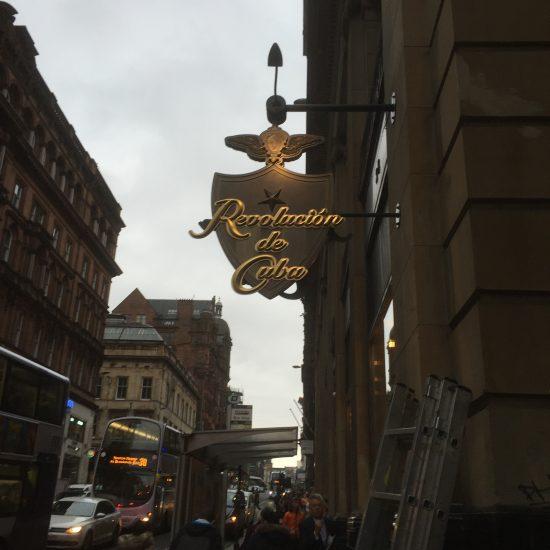 Revolución de Cuba, Glasgow - Bespoke Projecting Sign