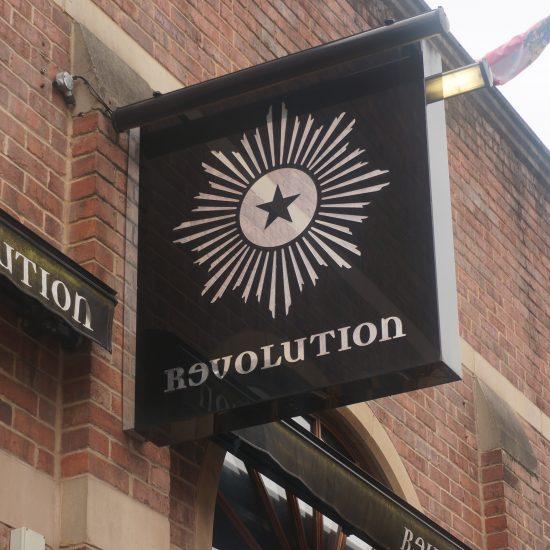 Revolution, Wigan - Bespoke Projecting Sign