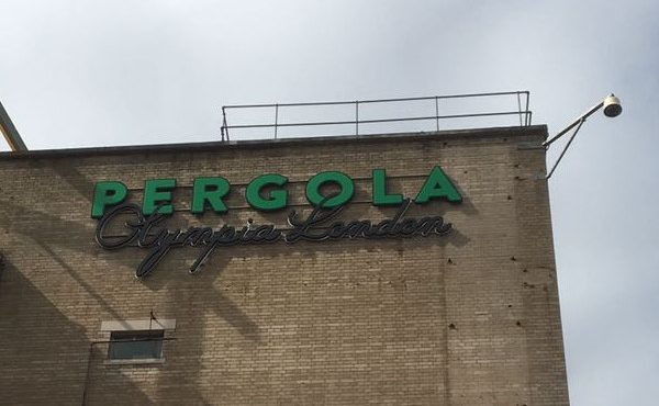 Pergola Olympia, London - Large Scale Illuminated 3D Letter Signage