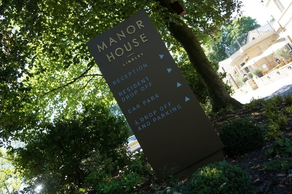 Manor House Lindley External Wayfinding Totem Signage