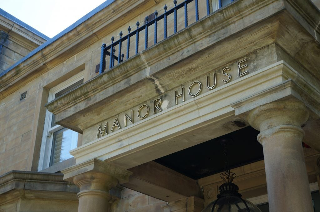 Manor House Lindley Entrance Sign