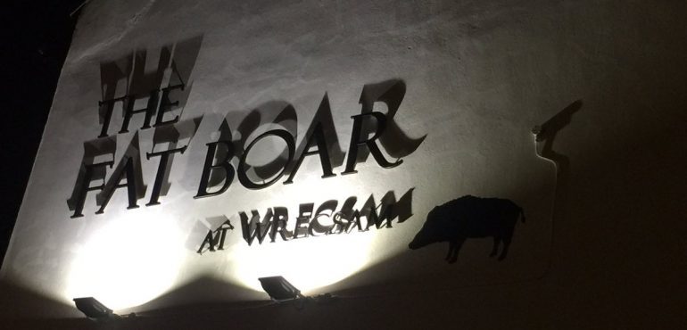 The Fat Boar - 3D Lettering Sign