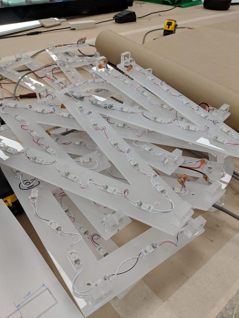 Acrylic mounted LED lighting