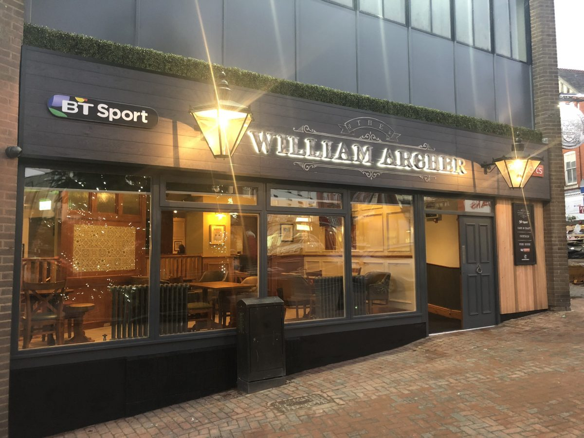 The William Archer Front Signage