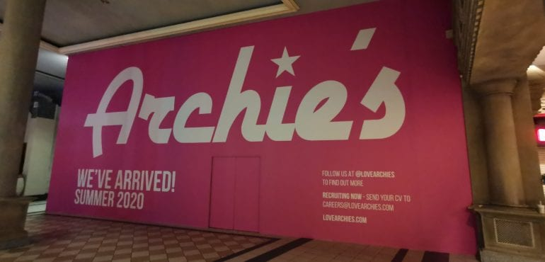 Archie's Trafford Centre Hoardings